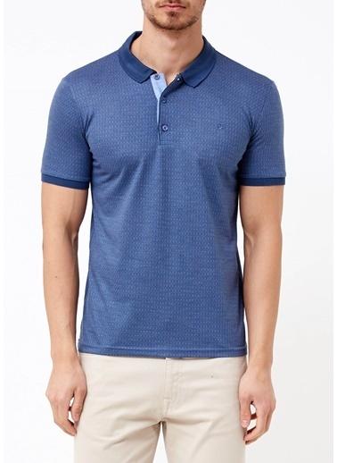 Adze Polo Yaka Tişört İndigo